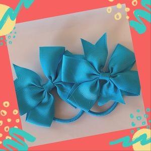👶5/$25 Misty Turquoise Elastic HairTies Ponytail